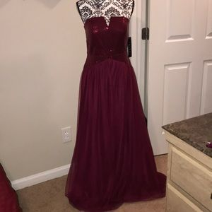 Beautiful Sequined and mesh prom dress